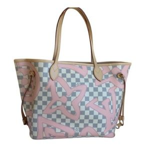 Louis Vuitton Bags - Louis Vuitton Neverful MM Tahitinenne Azur